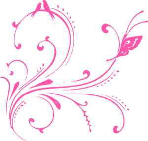 300x285 Swirl Cute Flower Png Pink Swirl Birds (Butterfly Princess) Clip
