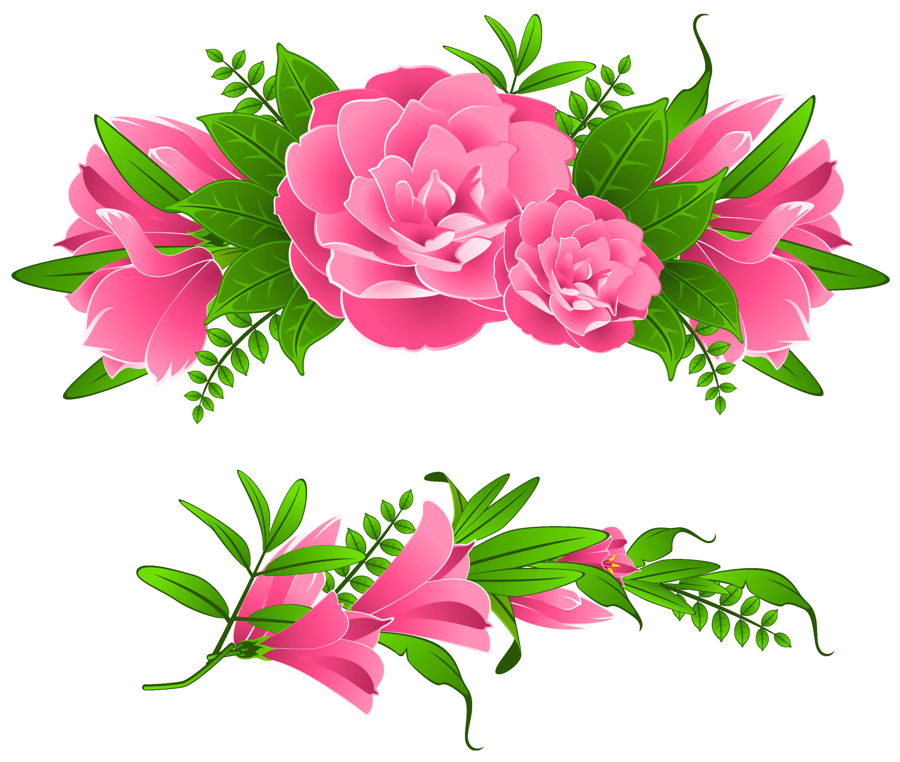 3128x2649 Floral Clipart Decoration
