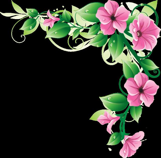640x628 Flowers Corner Frame Transparent Png