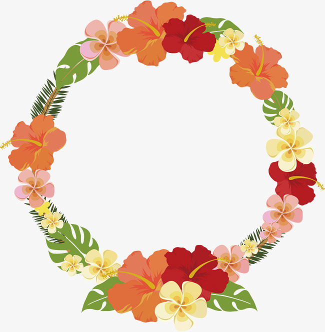 650x664 Round Summer Flower Decorative Frame, Vector Png, Summer Flowers