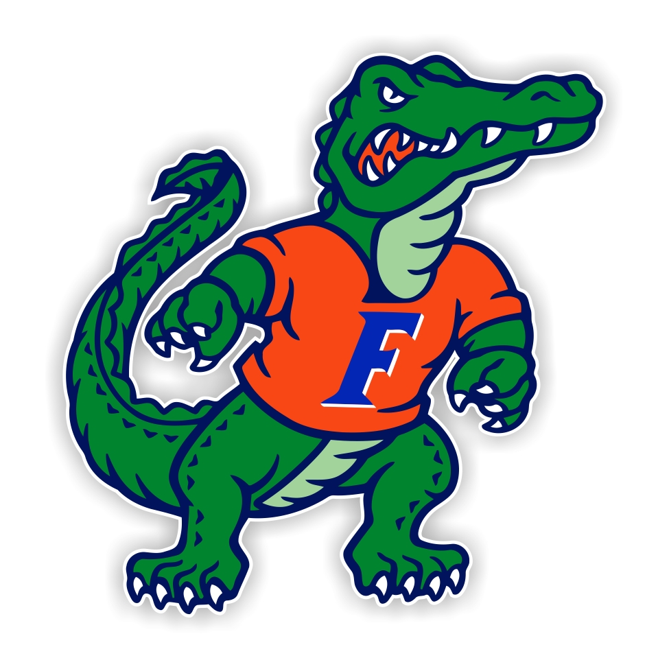 975x975 Florida Gators Mascot Decal Sticker Die Cut