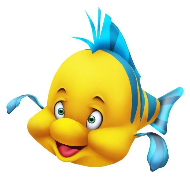 620x620 Fish Little Mermaid Clipart