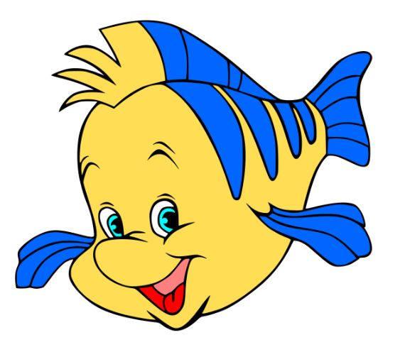 570x496 Flounder Svg File Svg Cutting File Disney Svg File Svg
