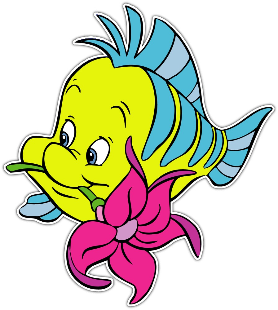897x1000 Cartoon Flounder Clipart