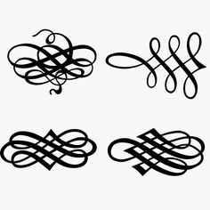 236x236 Decorative Flourishes Free Vector Clip Art Free Download Flowers
