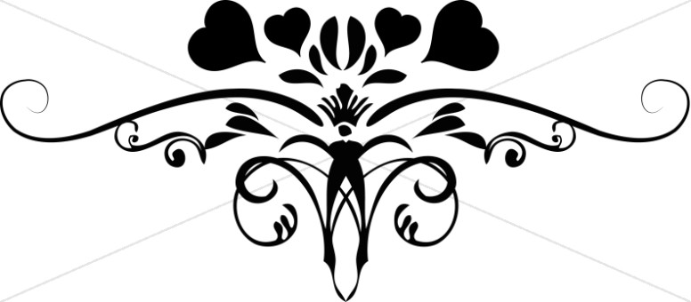 776x340 Flourishing Heart Valentines Day Clip Art Valentines Day Clipart