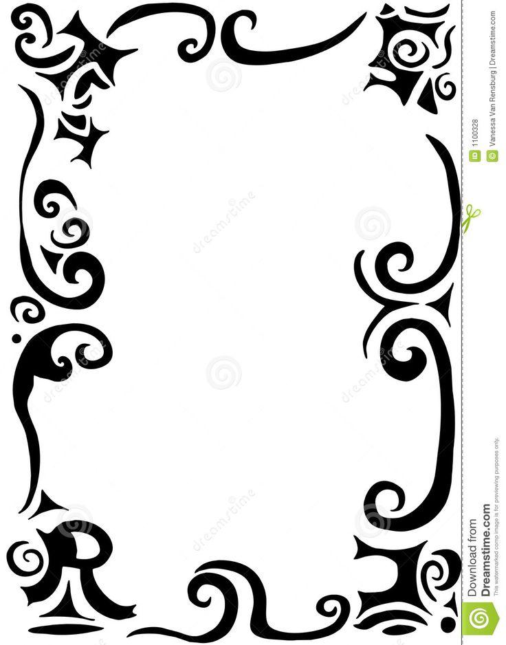 Flourish Swirls Clipart