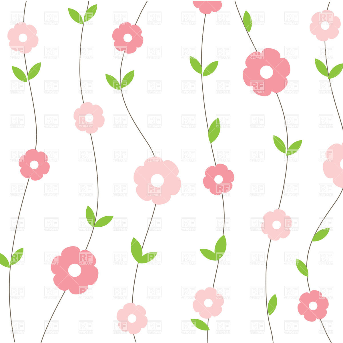 Simple Floral Background Png
