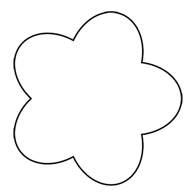 400x400 Clipart flower outline