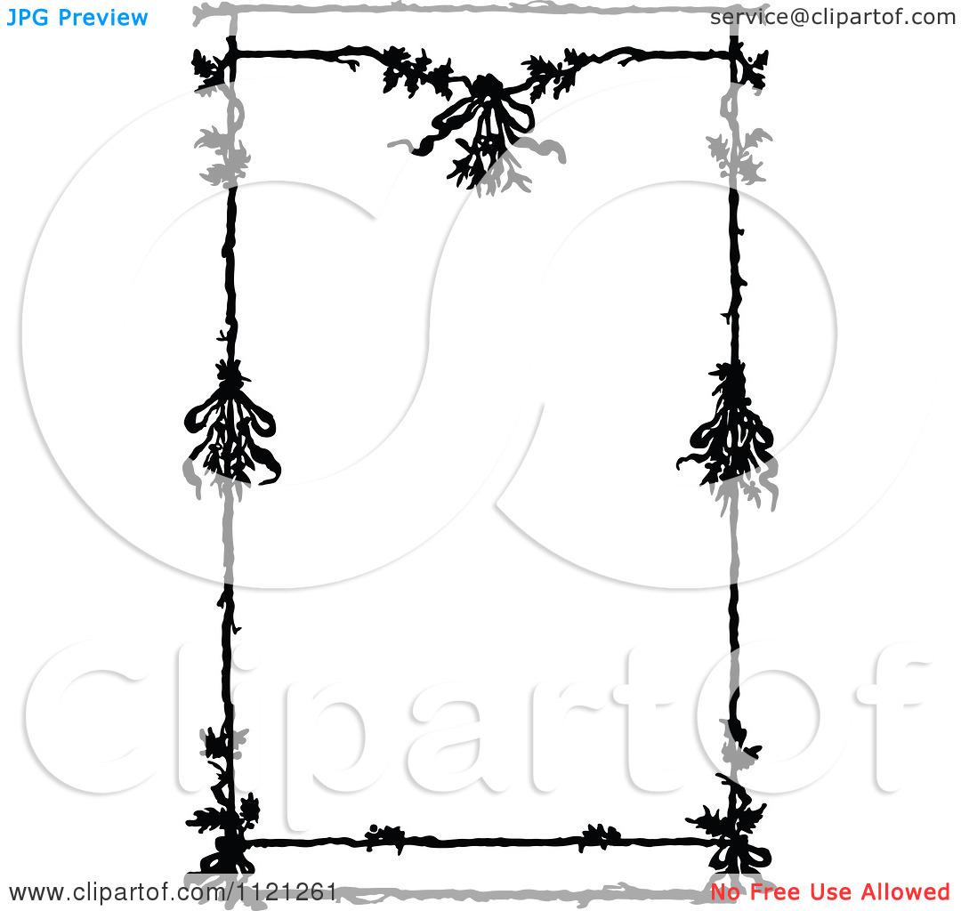 Flower Border Black And White Free Download Best Flower Border