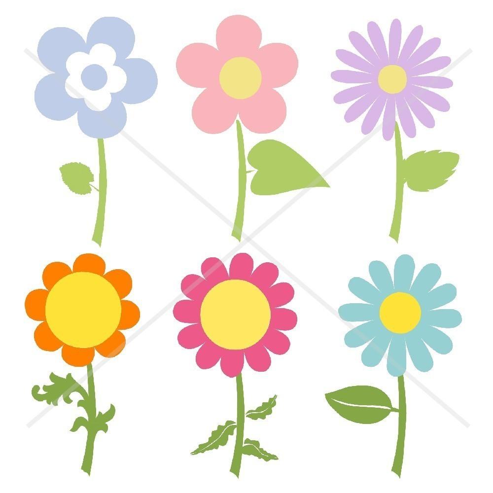 1000x1000 Flower Garden Free Clipart