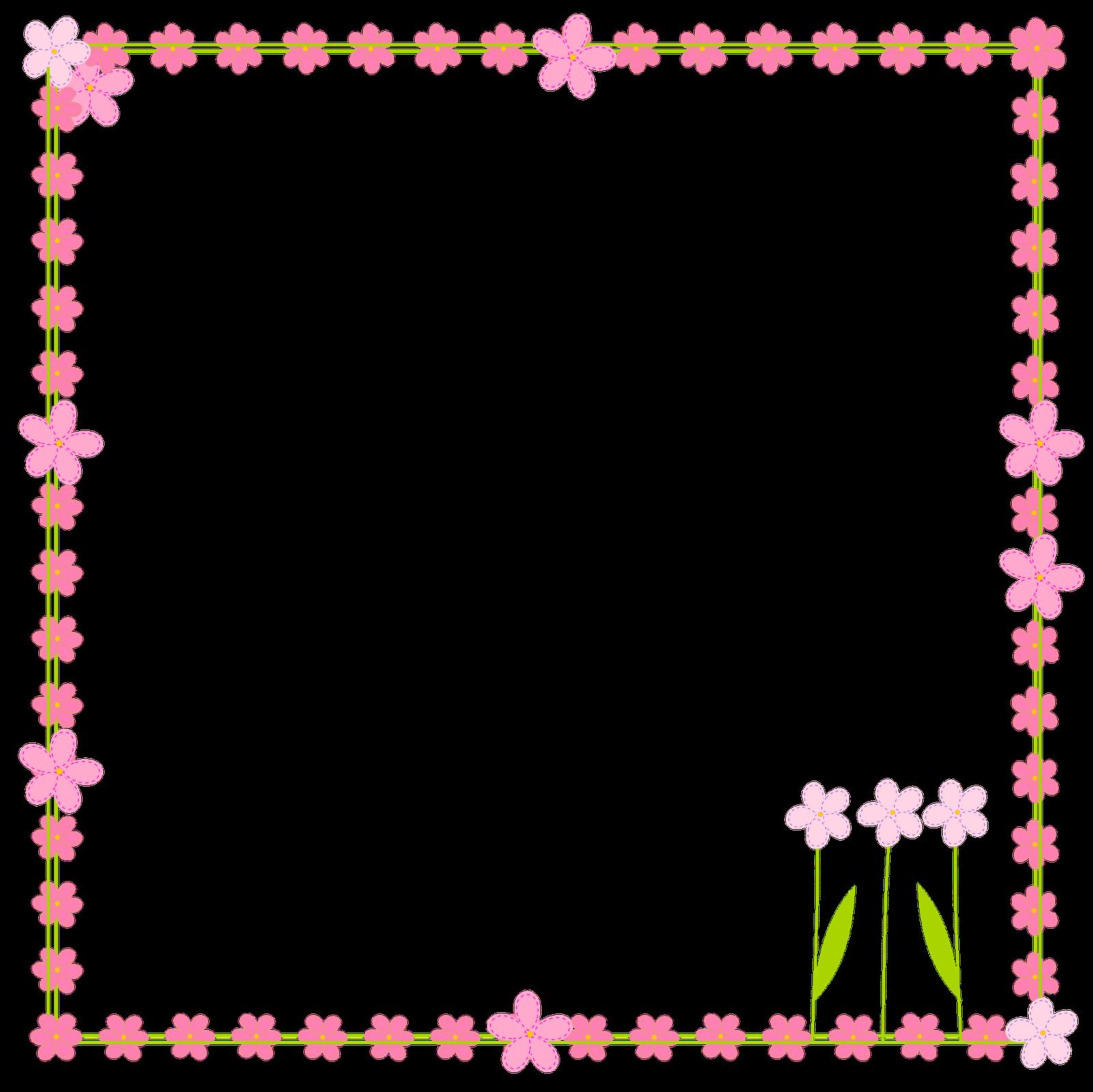 1600x1599 Flowers Border Clipart