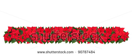 450x189 Poinsettia Clipart Horizontal Flower Border