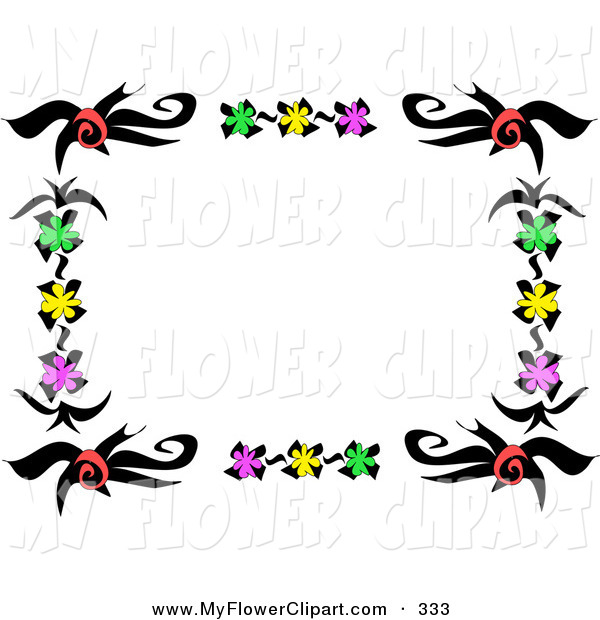 600x620 Clip Art Of A Frame Or Stationery Border Of Red, Green, Yellow