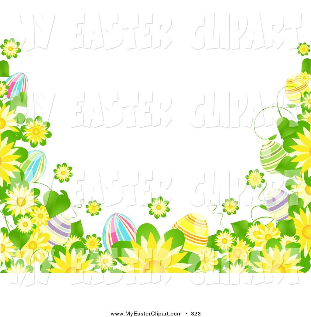 1024x1044 Easter Flower Border Clipart