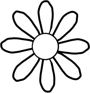 291x300 Flower Clipart Black And White Free