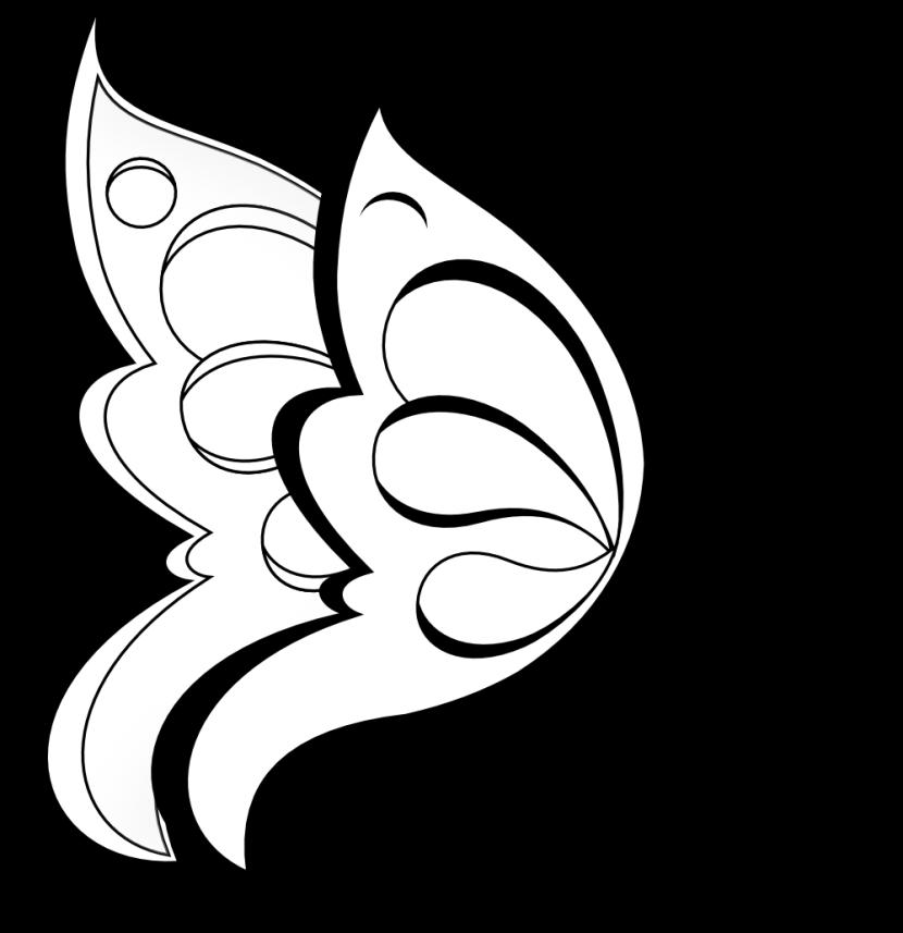 830x857 Flower Black And White Flower Clipart Black And White 4