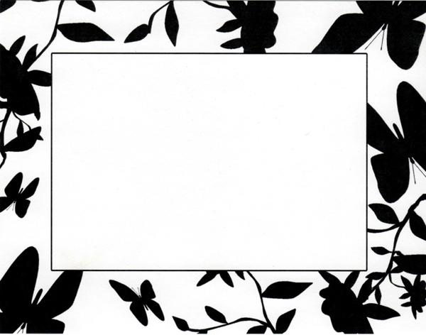 600x472 Black And White Borders