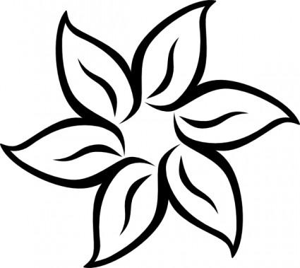 Flower border clipart black and white free download best flower 425x379 black and white clipart flowers mightylinksfo