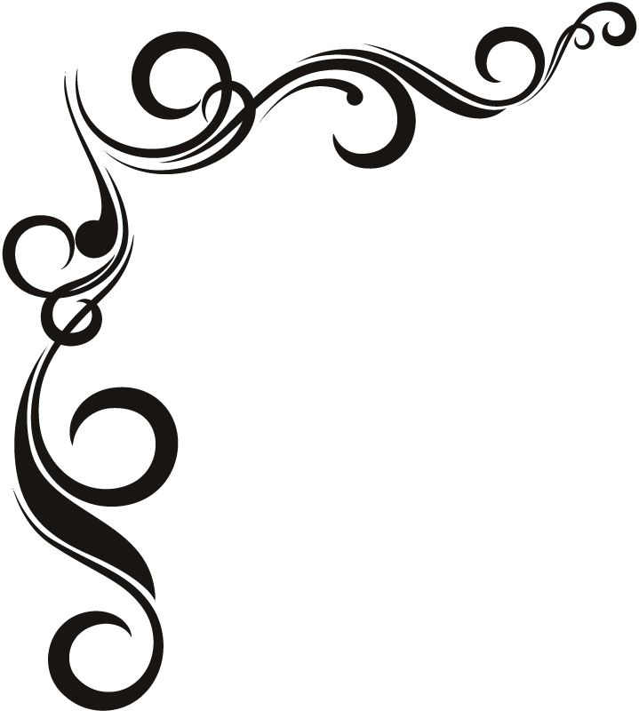 719x800 Borders Designs Black And White Collection