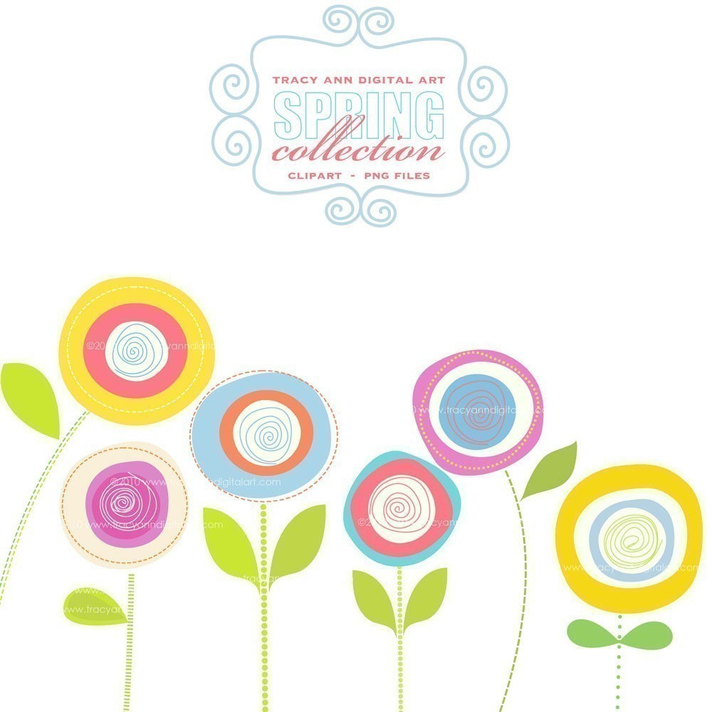 Flower border clipart free free download best flower border 1000x1000 spring flowers clip art free mightylinksfo