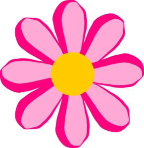 291x300 Pink And Purple Flowers Clip Art