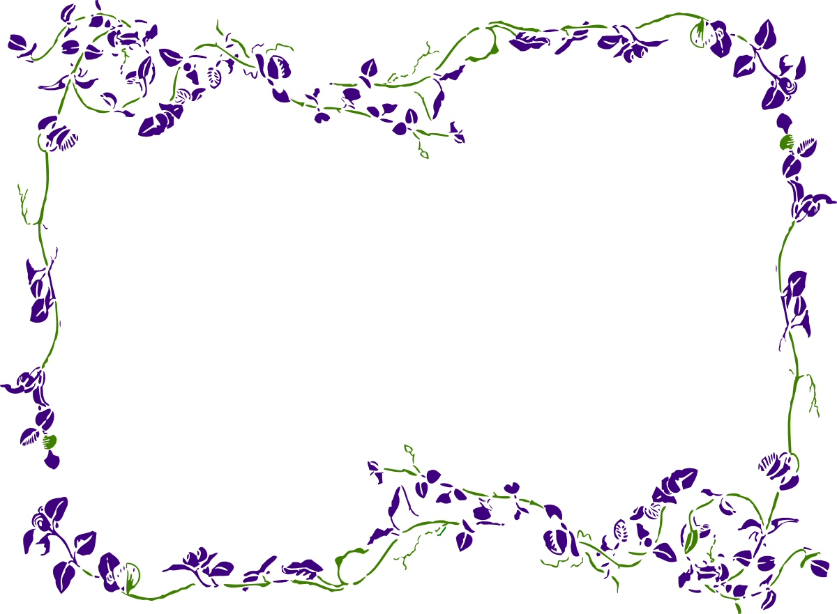 1200x881 Floral Border Clipart