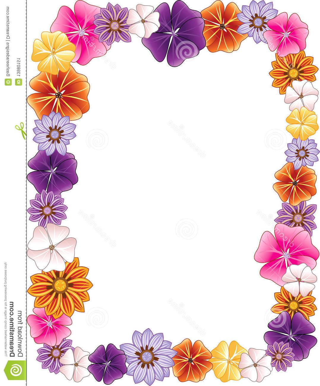 1077x1300 Best Hd Hawaiian Flower Border Clip Art Design