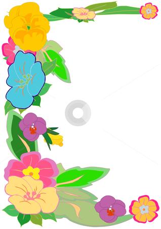 318x450 Flower Clipart Frame Design