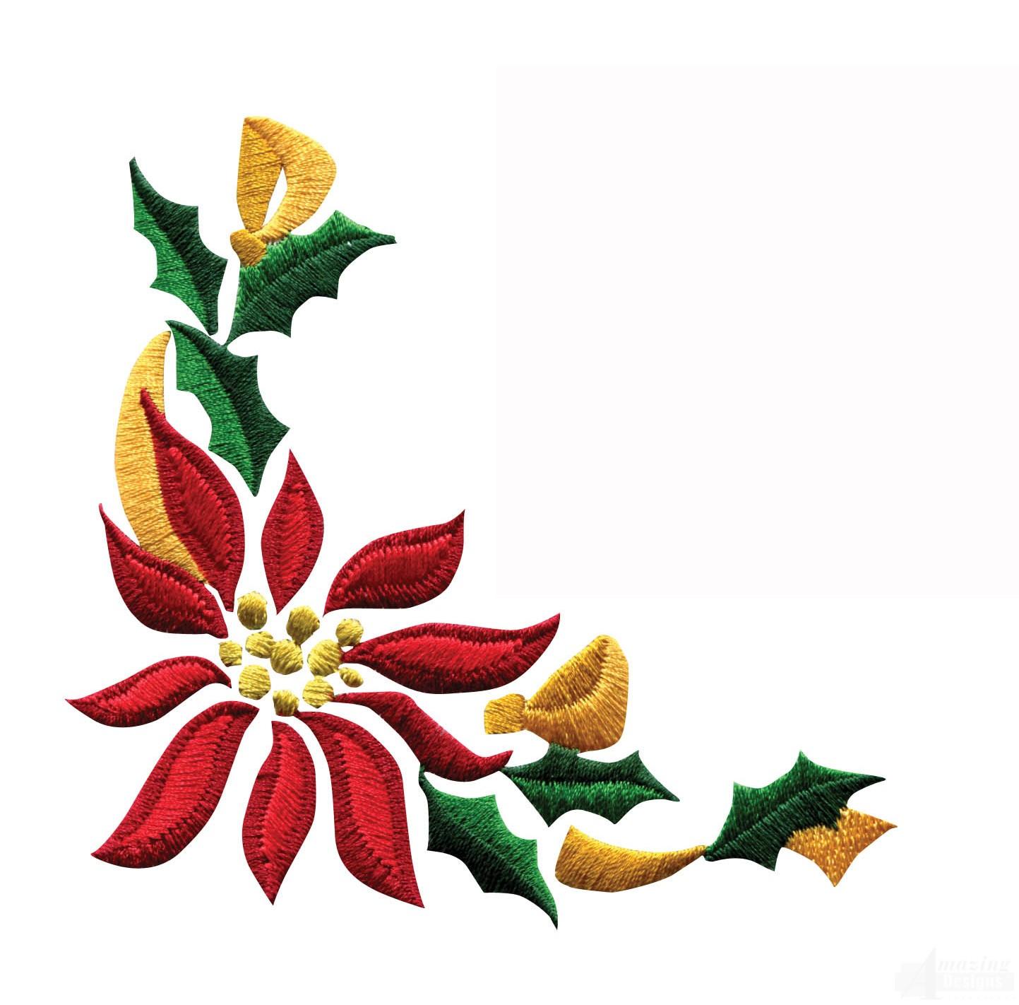 1443x1422 Poinsettia Clipart Horizontal Flower Border