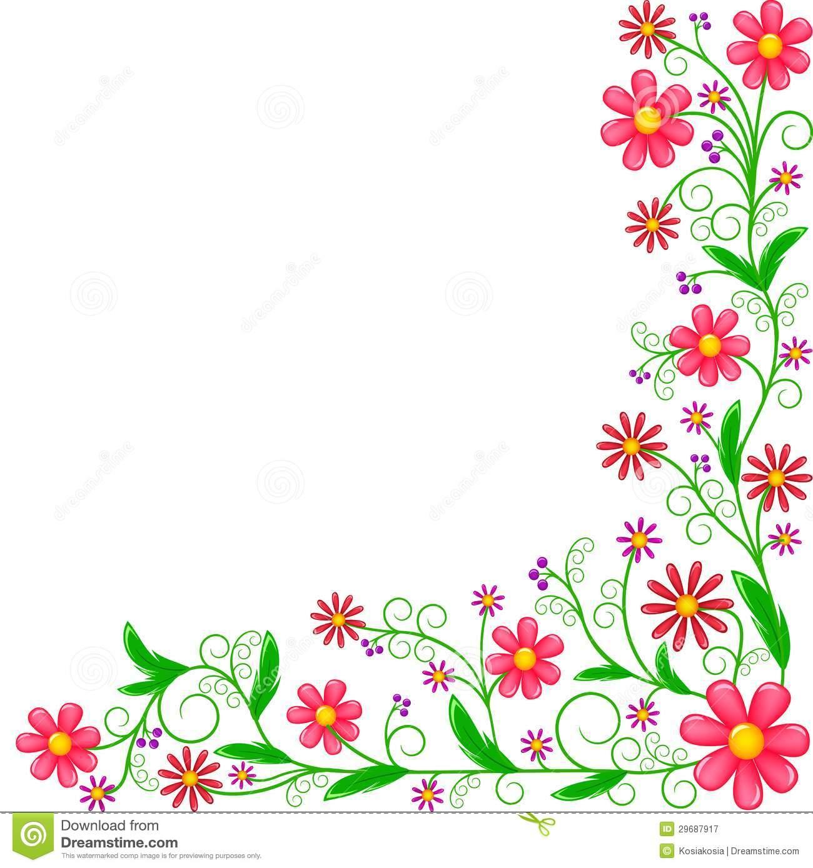 1300x1389 Colorful Corner Border Clip Art Floral Corner Ornament 29687917