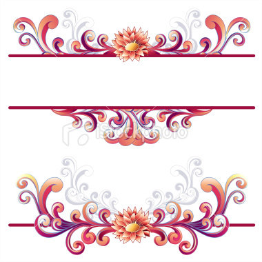 380x380 Free Flower Border Clipart Image