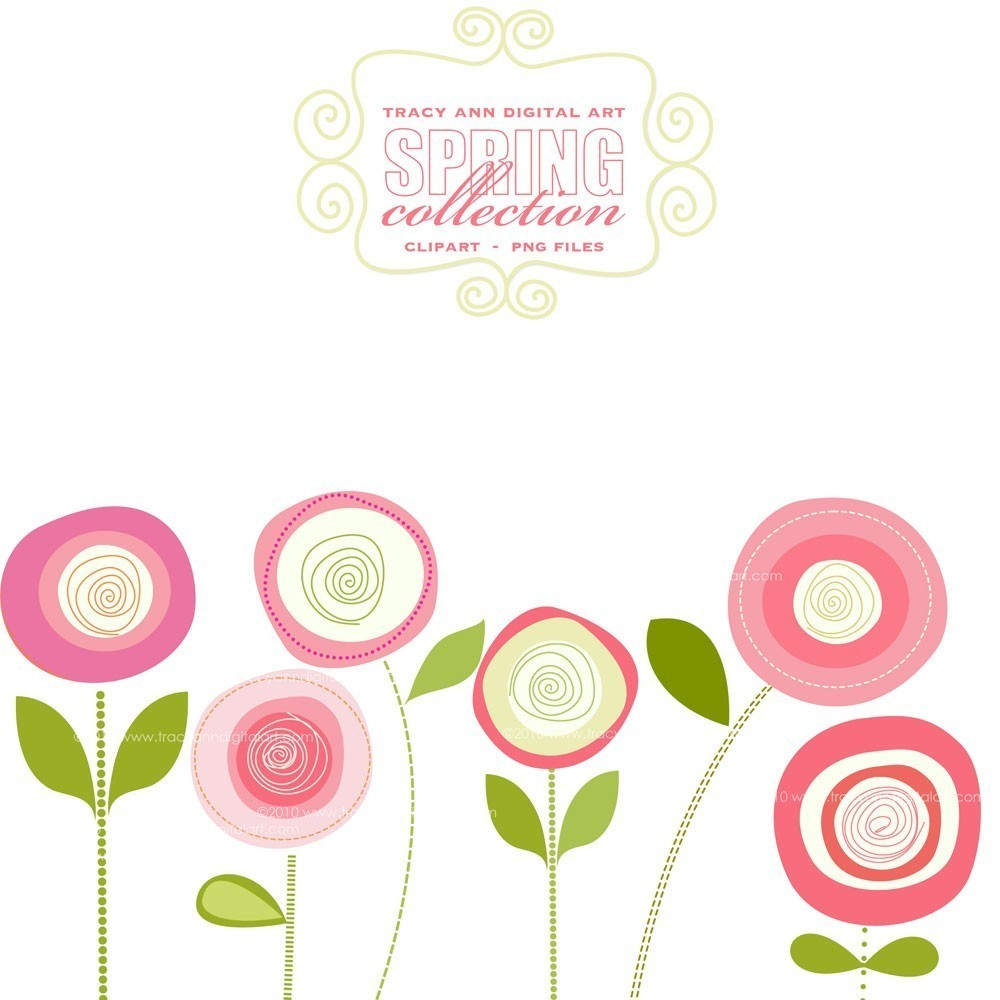 1000x1000 Pink Flowers Clipart