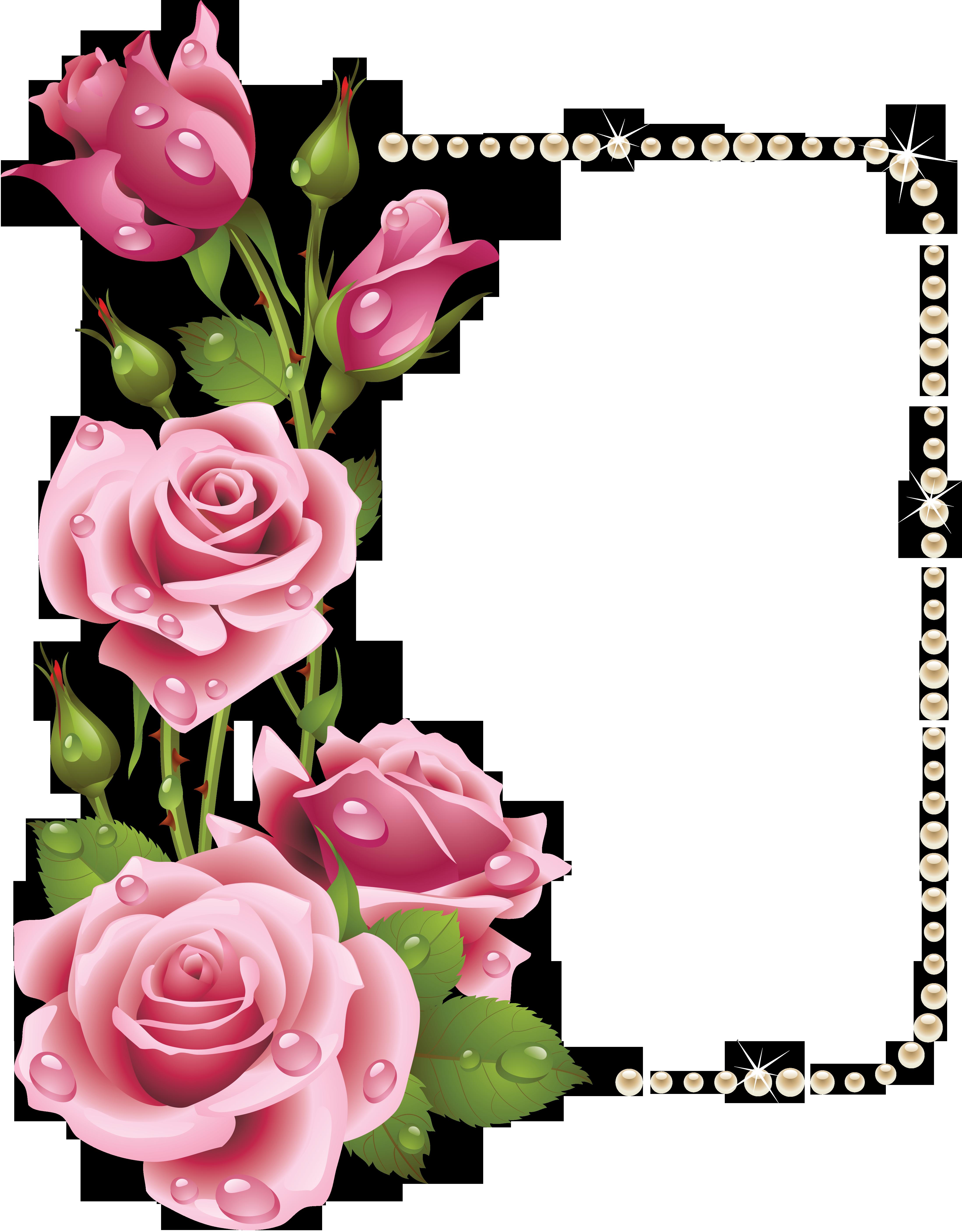 4396x5630 Rose Flower Border Clipart Tags Rose, Flower