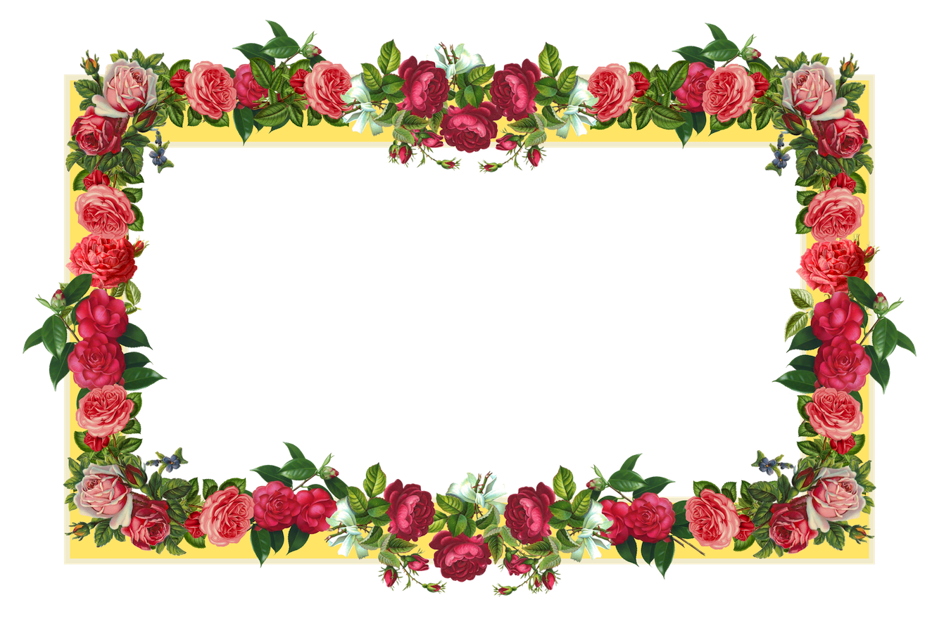1334x900 Download Flowers Borders Free Png Photo Images And Clipart