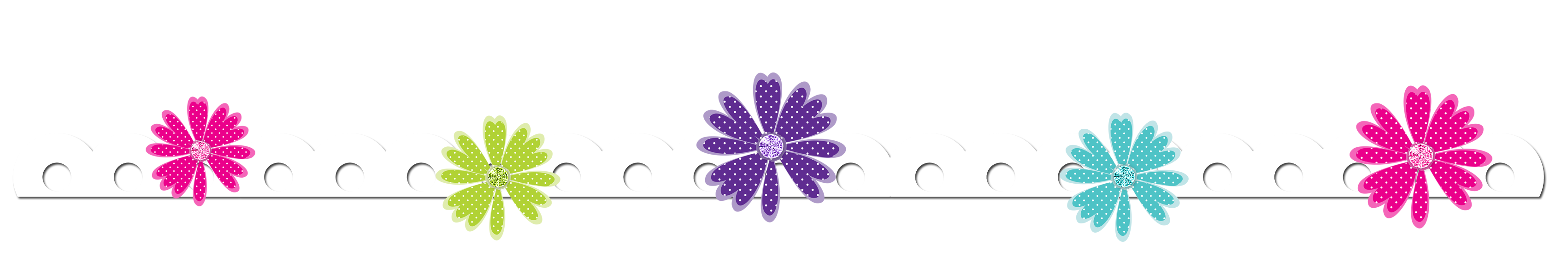 Flower Border Line Clipart | Free download on ClipArtMag