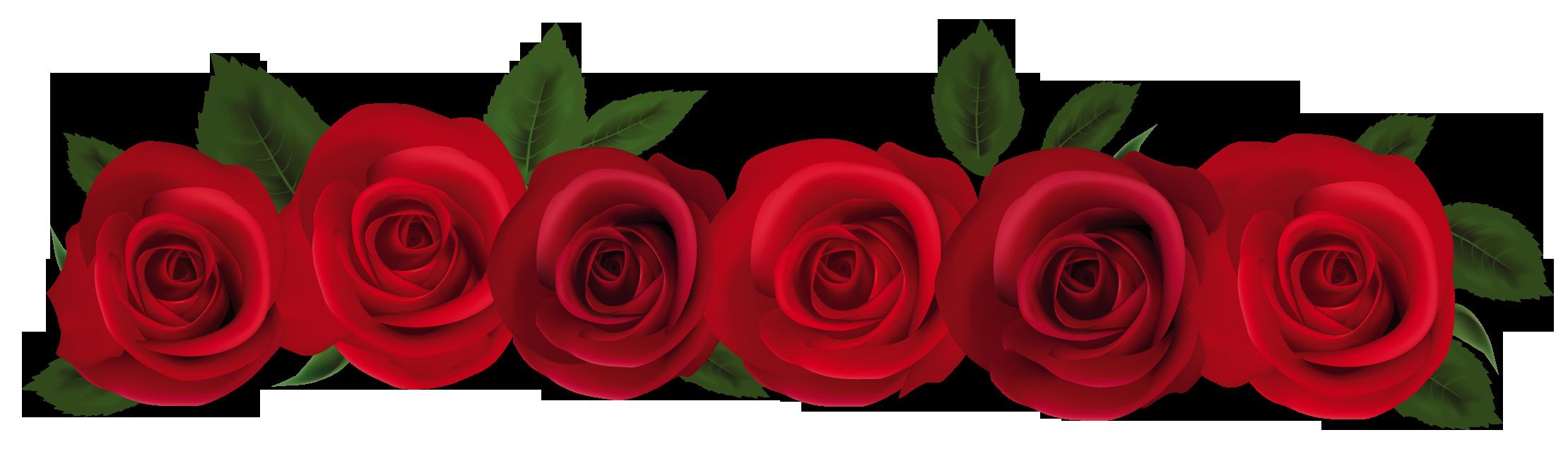2219x649 rose border clip art