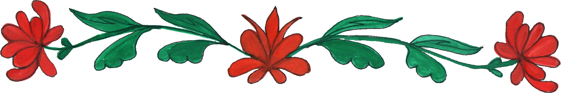1936x321 8 Flower Border Drawing (Png Transparent)
