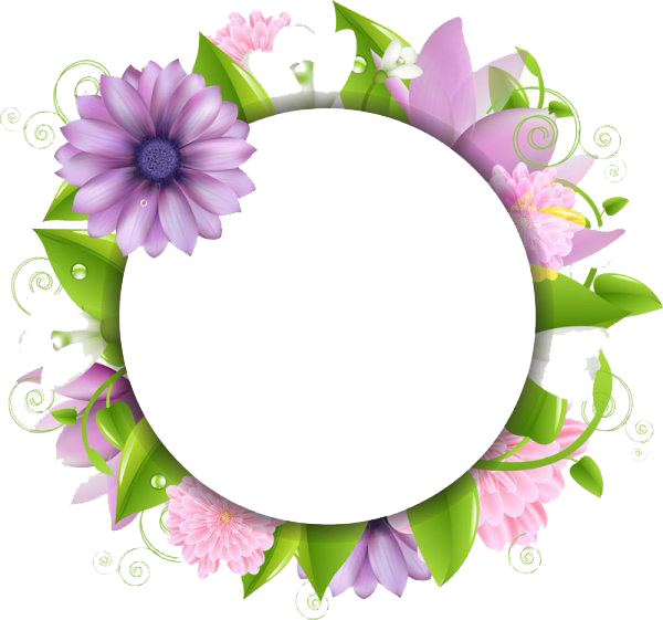 600x561 Download Flowers Borders Free Png Photo Images And Clipart