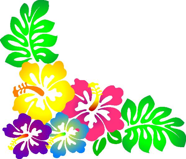 600x512 Hawaiian Flower Clipart Border