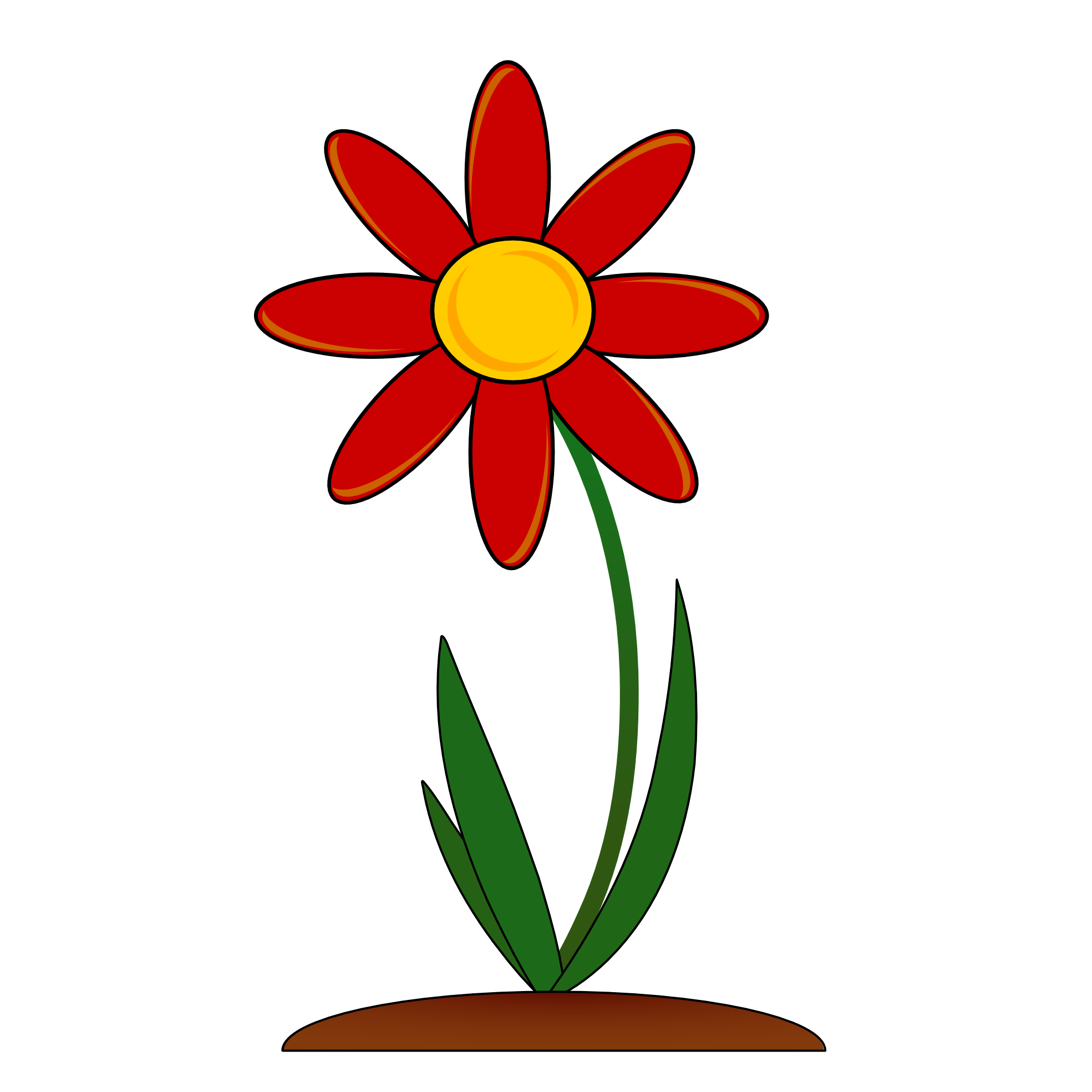 1969x1969 Red Flower Border Clip Art Png