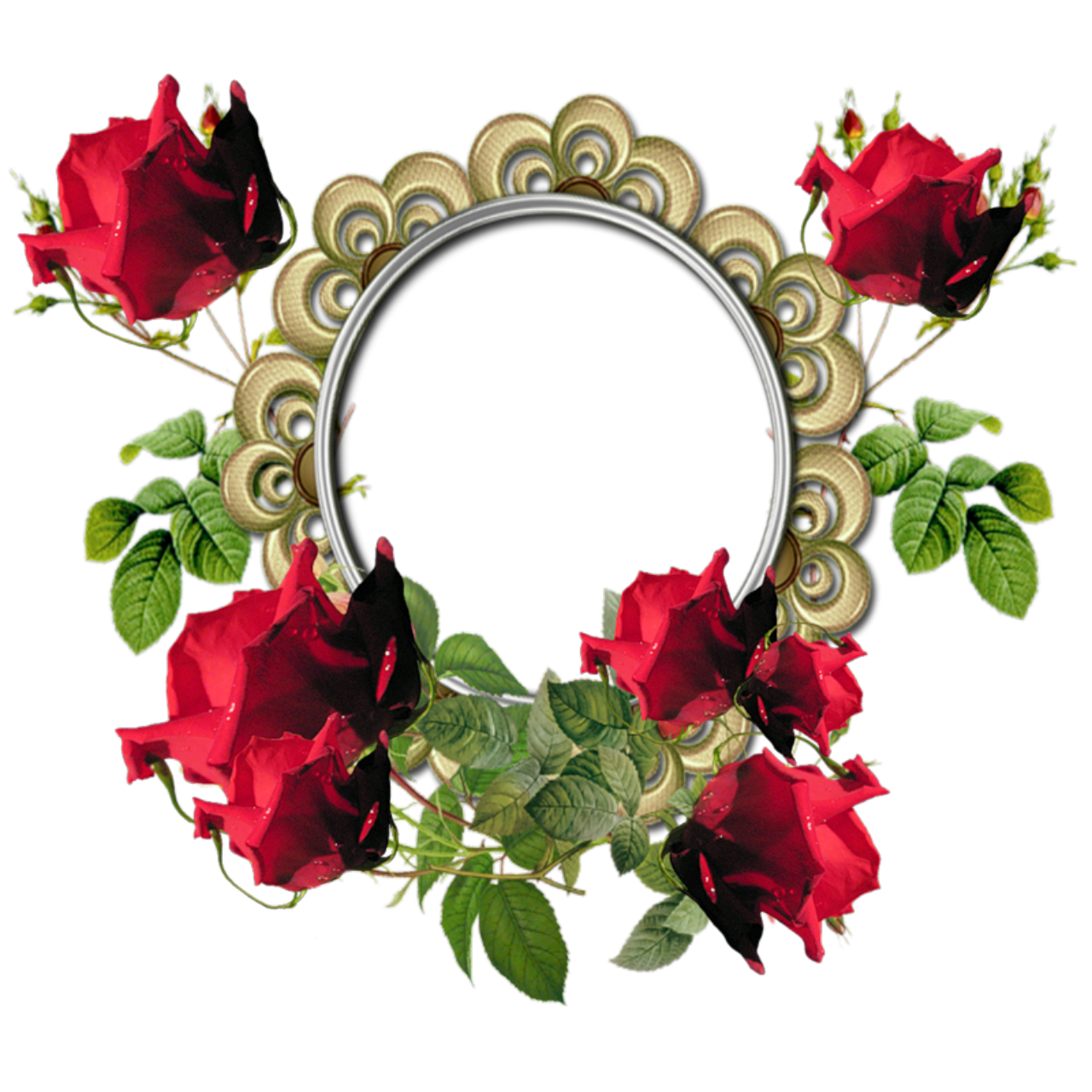 1280x1280 Red Flower Frame Png Photos Png Mart