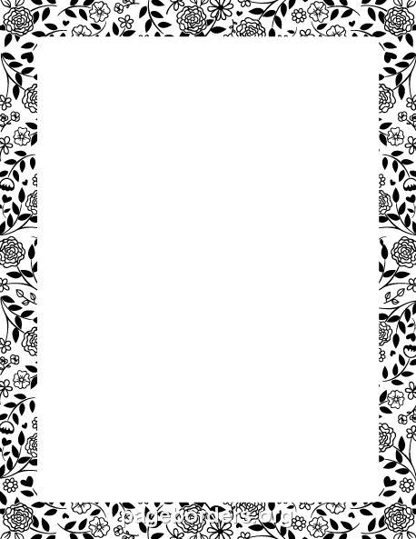 Flower Borders Black And White