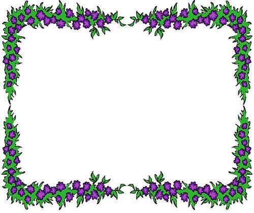 Flower Borders Clipart