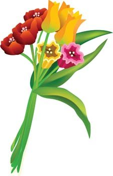 225x350 Bouquet Of Flower 19, Vector