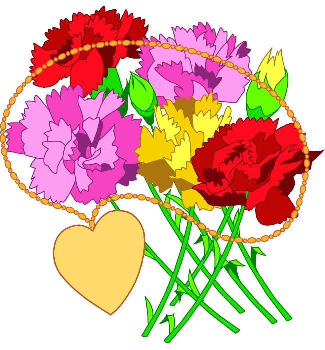 650x700 Flower Bouquet Clip Art Free Clipart Images 3