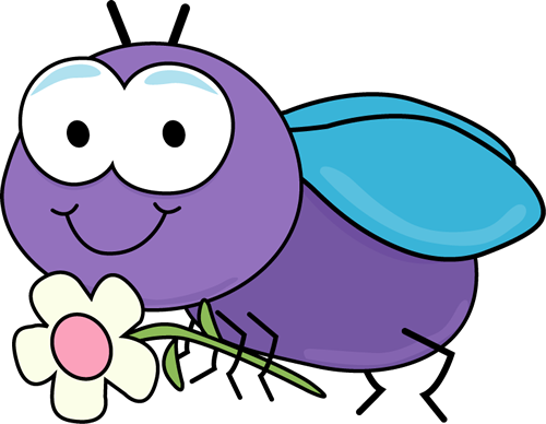 500x388 Fly With A Flower Clip Art