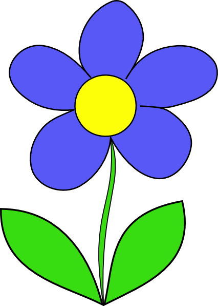 426x596 Simple Flower Clip Art