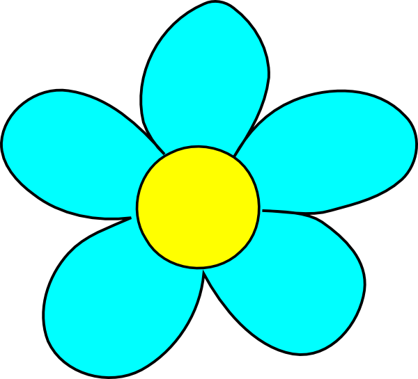 600x545 Blue Flower Clip Art