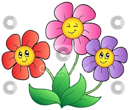 450x386 Free Cartoon Flower Clipart